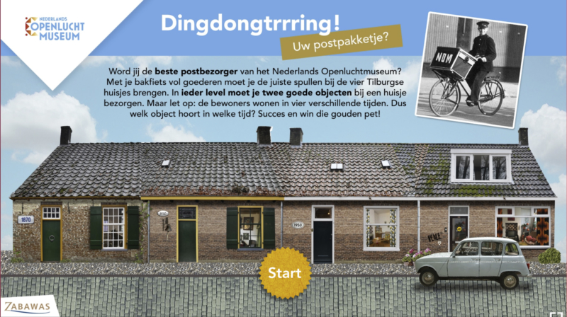 Startpagina game - Dingdongtrrring!